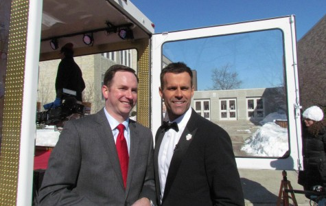 Mr. Neigel and Cameron Mathison pose for a picture.