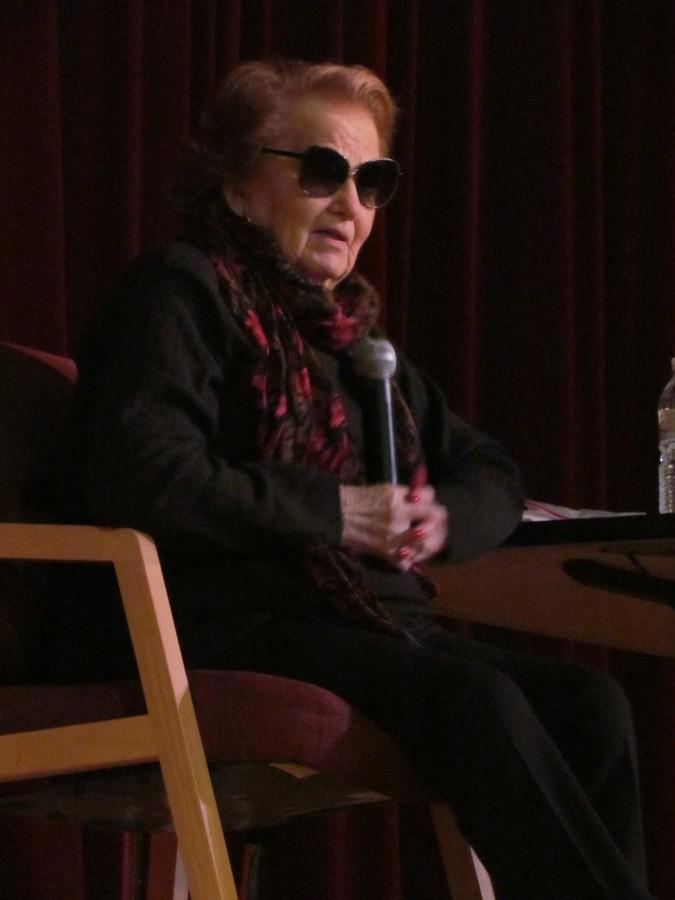 Marsha Kreuzman holocaust speaker comes to speak about her experiences.