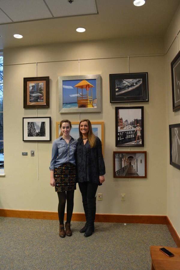 Seniors Rebecca Baldwin and Christina Reddi