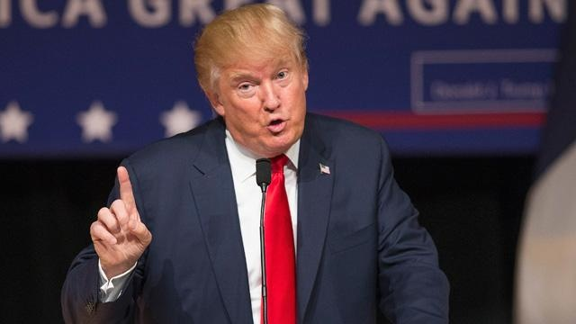 Donald Trump speaking at an event