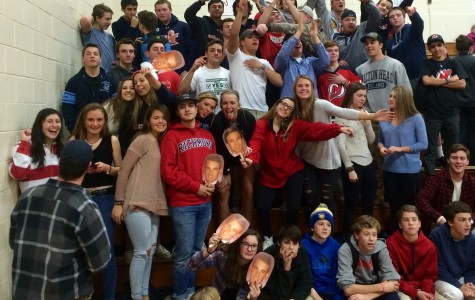 Strong student support propels boys' basketball to Senior Night victory over Pingry