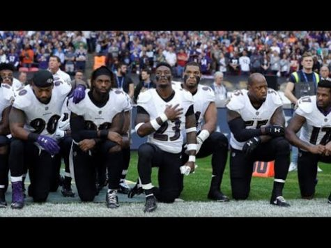 NFL Players display their protests for the National Anthem