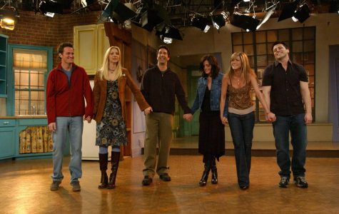 Friends cast on stage for the last time