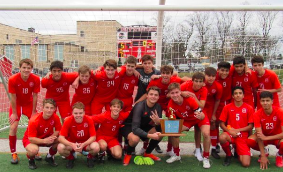 Boys Soccer Wins Back to Back State Championships: Caps off Undefeated Season beating Steinert 5-1